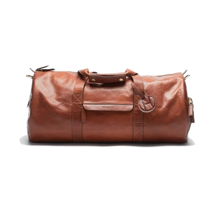 HILDEBRAND Leather Duffle Brown Leather Padel/Weekend